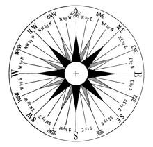 Mariner Compass, Vintage Illus...