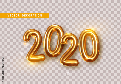 Happy New Year 2020 Canvas Print