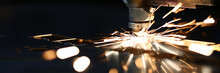 Sparks Fly Out Machine Head For Metal Processing