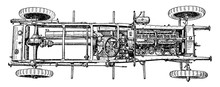 Top View Of Six Cylinder 1910 ...