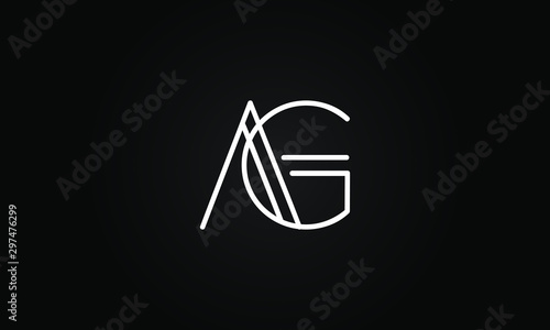 Photo AG OR GA initial based letter icon logo Unique modern creative elegant geometric