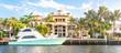 Leinwanddruck Bild - Luxury Waterfront Mansion in Fort Lauderdale Florida