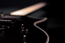 A Closeup Of A Black Electric ...