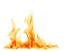 Fire Flames On A White Background.
