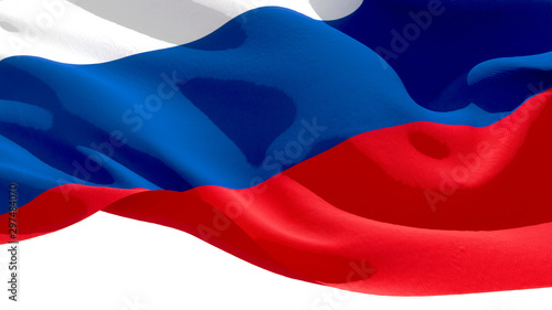Photo Russian Federation waving national flag. 3D illustration