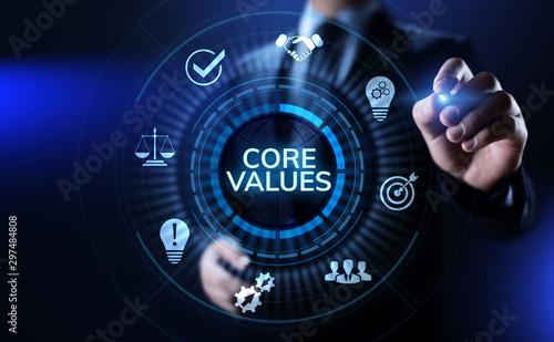 Cuadros en Lienzo Core values responsibility Company Ethical Business concept.