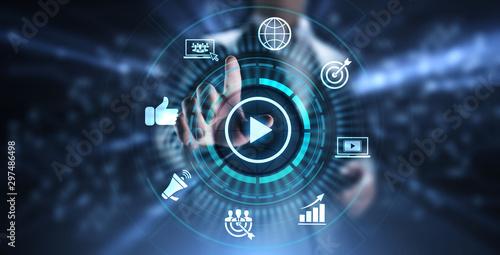 Fotografía  Video marketing online advertising business internet concept.