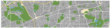 Map Of An Unknown City. Street...