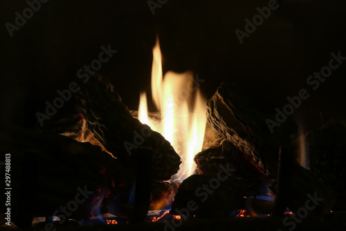 mesmerizing flame in a fireplace