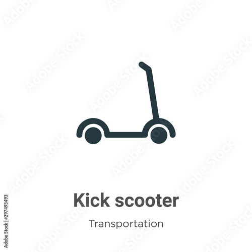 kick scooter vector icon on white background flat vector kick scooter icon symbol sign from modern transportation collection for mobile concept and web apps design buy this stock vector and explore adobe stock