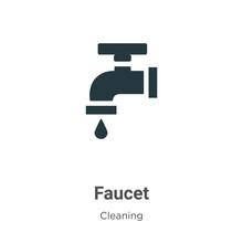 Faucet Vector Icon On White Ba...