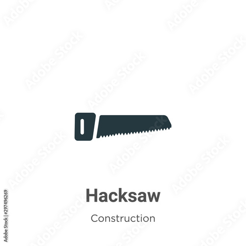 Valokuva Hacksaw vector icon on white background