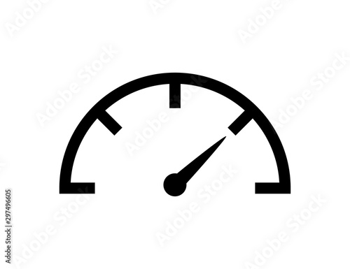 Photo Speedometer icon vector isolated design element