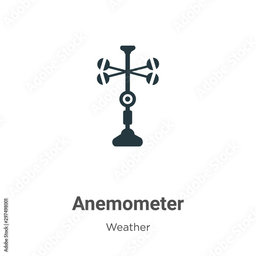 Photo Anemometer vector icon on white background