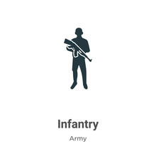 Infantry Vector Icon On White ...