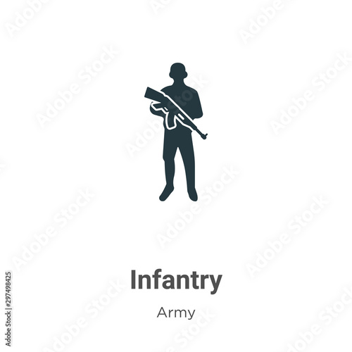 Cuadros en Lienzo  Infantry vector icon on white background