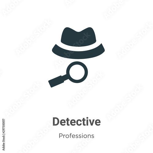 Obraz na plátně Detective vector icon on white background