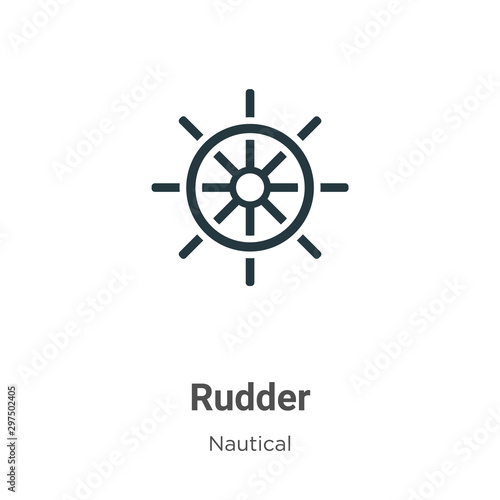 фотография Rudder vector icon on white background