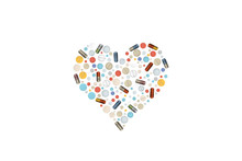 Heart Shape Pills.