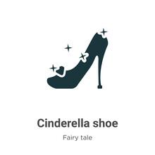 Cinderella Shoe Vector Icon On...