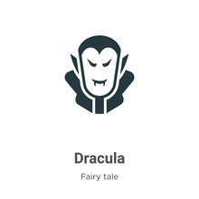 Dracula Vector Icon On White B...