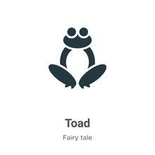 Toad Vector Icon On White Back...