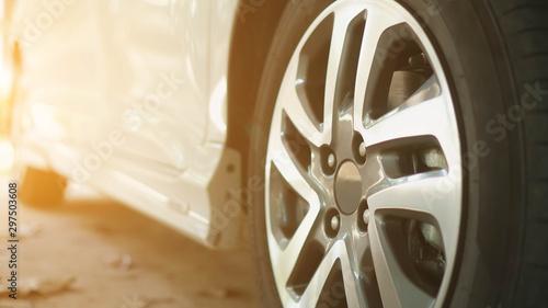 Photo Alloy wheels of modern cars.