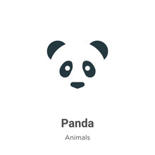 Panda Vector Icon On White Bac...