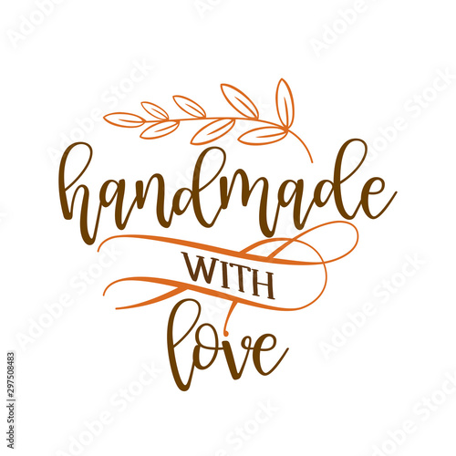 Photo Handmade with love - stamp for homemade products and shops