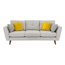 Gray Mid Back Linen Sofa Bed I...
