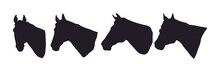 Horse Portrait Vector Illustration, Silhouette Drawing