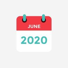 Flat Icon Calendar June 2020. ...