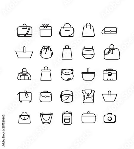 Slika na platnu Boutique maroquinerie, mode, style, look et accessoire, bagage