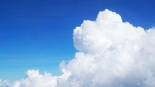 Blue Sky Background With Cloud...