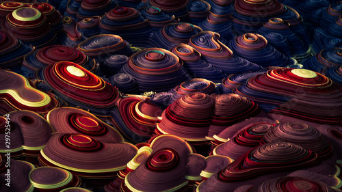 Soft, nice abstract background in bright colors. 3d illustration, 3d rendering. #297525494
