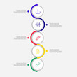 Timeline infographics design vector elements and marketing strategy templates can be used for workflow layout, diagram, annual report, web design and presentation templates. easy to editable. vector