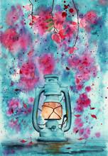 Watercolor Picture Of The Li...