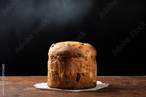Photo  Italian Christmas cake. Home made Panettone