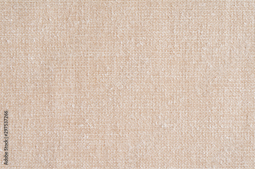 Recess Fitting Fabric Closeup ,beige,light brown color fabric sample texture backdrop.Beige fabric strip line pattern design,upholstery for decoration interior design or abstract background.