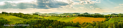 Fotografia Panorama, Austria, Styria, wine producing country,old wine-growing country,South