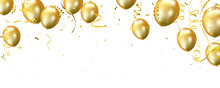 Celebration Banner With Gold B...