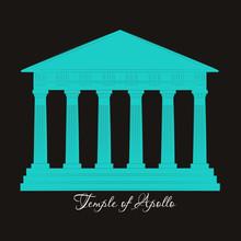 Greece, Temple Of Apollo, Vect...