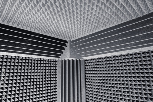 Valokuva  acoustic foam absorber and bass traps for sound dampering background