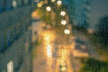 Water Drops On The Window Pane...