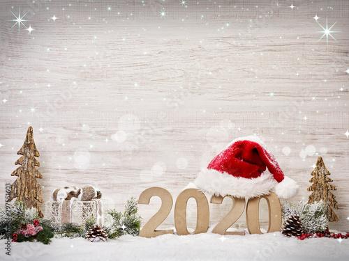 Weihnachten und Silvester Canvas Print