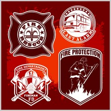 Firemans Vector Set - T-shirt Graphics, Fire Department, Sworn To Protect