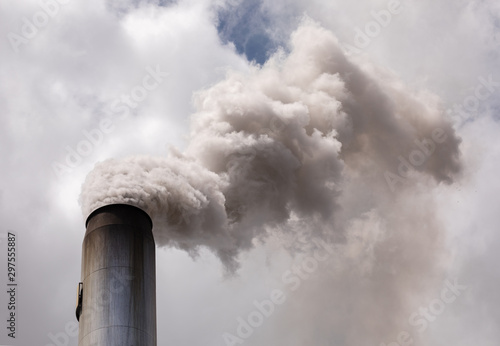 smoke stack billowing smoke Canvas Print
