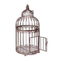 Empty Birdcage On White Backgr...