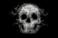 Skull From Cigarette Smoke On ...