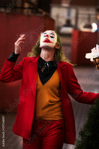 Fototapeta evil clown woman